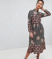 photo Long Sleeve Belted Maxi Dress by Uttam Boutique, color Black - Image 1