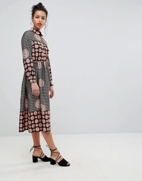 photo Long Sleeve Belted Maxi Dress by Uttam Boutique, color Black - Image 4