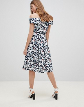 photo Leaf Print Prom Dress by Uttam Boutique, color White Base Floral - Image 2