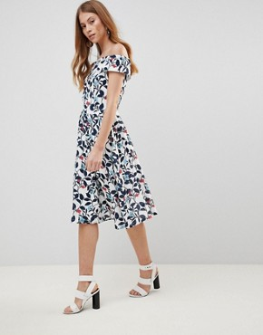 photo Leaf Print Prom Dress by Uttam Boutique, color White Base Floral - Image 1