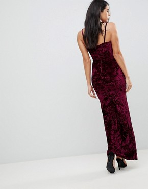 photo Maxi Dress with Split by AX Paris, color Plum - Image 2