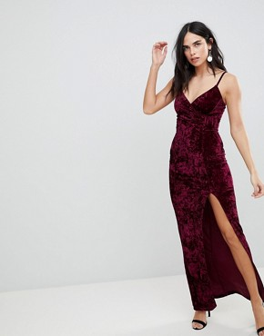 photo Maxi Dress with Split by AX Paris, color Plum - Image 1