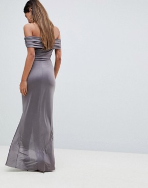 photo Bardot Maxi Dress by AX Paris, color Pewter - Image 2