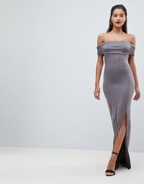 photo Bardot Maxi Dress by AX Paris, color Pewter - Image 1