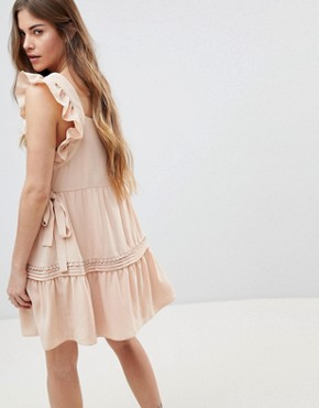 photo Posy Apron Mini Dress by Stevie May, color Blush - Image 2