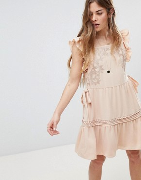 photo Posy Apron Mini Dress by Stevie May, color Blush - Image 1