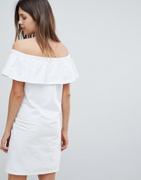 photo Bardot Jersey Dress by Mama.licious, color White - Image 2