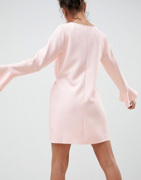 photo Mini Shift Dress with Flared Cuff by ASOS DESIGN Petite, color Pink - Image 2
