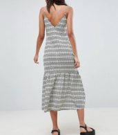 photo Pep Hem Maxi Slip Sundress in Aztec Print by ASOS DESIGN Tall, color Multi - Image 2