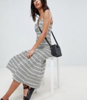 photo Pep Hem Maxi Slip Sundress in Aztec Print by ASOS DESIGN Tall, color Multi - Image 3