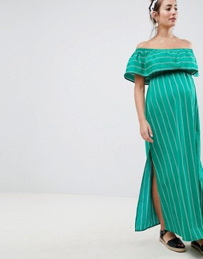 photo Maternity Bandeau Maxi Dress in Stripe by ASOS DESIGN, color Multi - Image 2