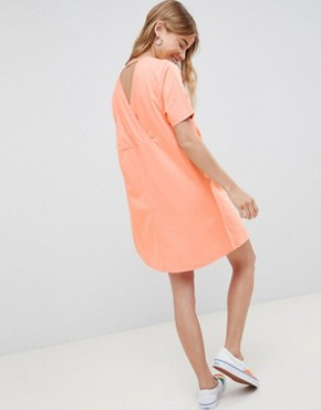 photo Smock Dress with Diamond Open Back by ASOS DESIGN, color Papaya - Image 2