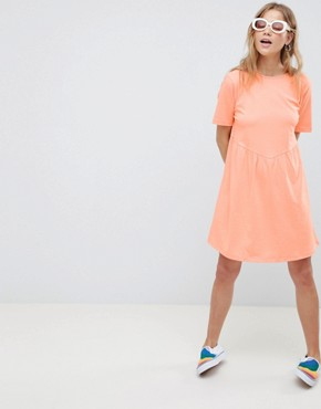 photo Smock Dress with Diamond Open Back by ASOS DESIGN, color Papaya - Image 1