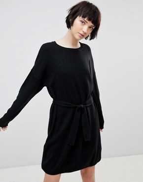 photo Jumper Dress with Belted Detail by ASOS DESIGN, color Black - Image 1