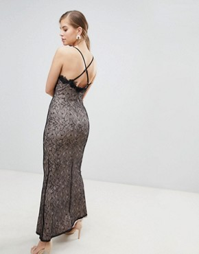 photo All Over Lace Maxi Dress by Little Mistress, color Black - Image 2