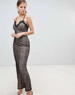 photo All Over Lace Maxi Dress by Little Mistress, color Black - Image 1