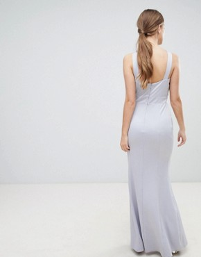 photo Halterneck Maxi Dress with Sequin Detail by Little Mistress, color Grey - Image 2