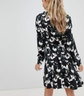 photo Blossom Print Skater Shirt Dress by Oasis, color Multi - Image 2