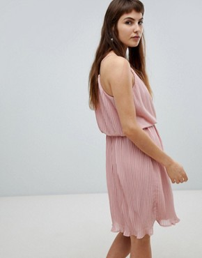 photo Pleated Slip Dress by Pieces, color Pink - Image 4