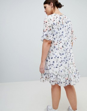 photo Floral Tea Dress by Junarose, color Multi - Image 2