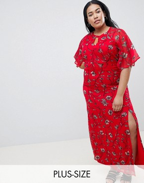 photo Floral Maxi Dress by Junarose, color Multi - Image 1