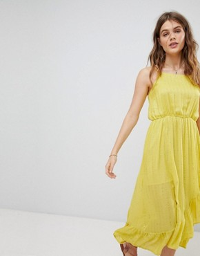 photo Embellished Cami Frill Maxi Dress by Sundress, color Yellow - Image 1