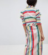 photo Stripe Midi Dress with Side Splits by Vero Moda, color Rainbow Bright - Image 2