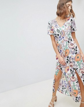 photo Floral Maxi Dress by Vero Moda, color Multi - Image 1