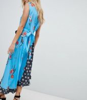 photo Sleeveless Midi Dress in Mix and Match Floral Print by ASOS DESIGN, color Multi - Image 2