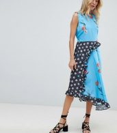 photo Sleeveless Midi Dress in Mix and Match Floral Print by ASOS DESIGN, color Multi - Image 1