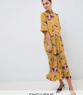 photo Floral Smock Dress by Y.A.S, color Multi - Image 1