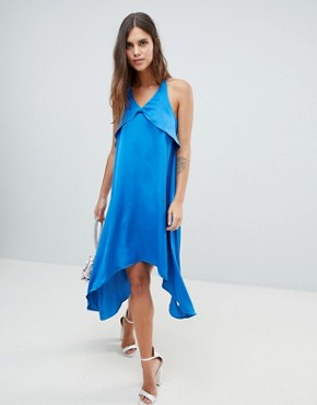 photo Satin Cami Dress by Y.A.S, color Blue - Image 1