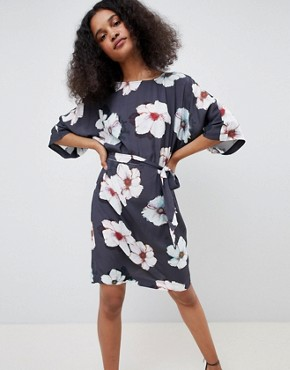 photo Floral Kimono Dress by MbyM, color Zia Print - Image 1