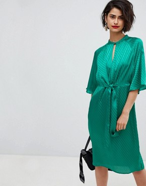 photo Tie Front Dress by Vero Moda, color Shady Glade - Image 1