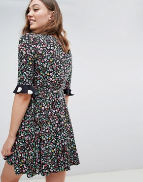 photo Maternity Wrap Dress in Mixed Print by ASOS DESIGN, color Multi - Image 2