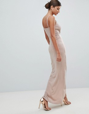 photo Wrap Evening Maxi Dress by Girl in Mind, color Pink - Image 2