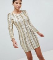 photo Open Back Sequin Mini Dress by Girl in Mind, color Gold - Image 4