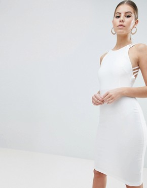 photo Strappy Back Midi Dress by Vesper, color White - Image 1