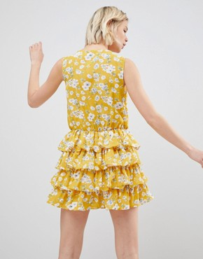photo Yellow Floral Dress by Unique 21, color Yellow Floral - Image 2