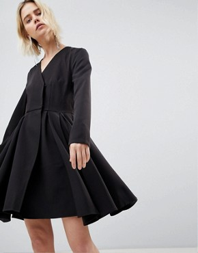 photo Black Dress with Pleated Skirt by Unique 21, color Black - Image 1