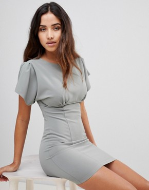 photo Basque Top Dress by Love, color Sage - Image 1