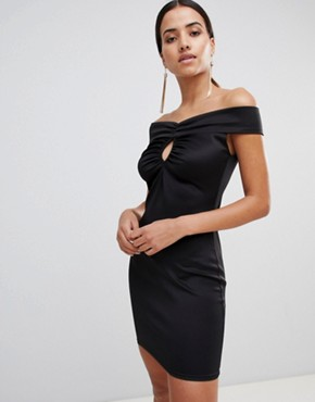 photo Bardot Bodycon Dress by Love, color Black - Image 1