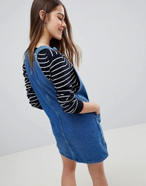 photo Pinafore Dress by New Look Petite, color Blue - Image 2