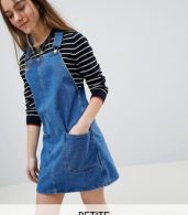 photo Pinafore Dress by New Look Petite, color Blue - Image 1