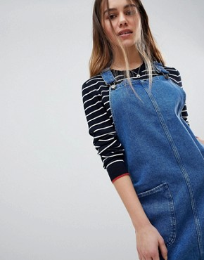 photo Pinafore Dress by New Look Petite, color Blue - Image 3