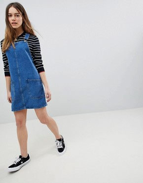 photo Pinafore Dress by New Look Petite, color Blue - Image 4