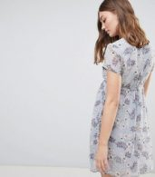 photo Mini Wrap Dress with Tie Waist in Floral by Glamorous Bloom, color Soft Blue Floral - Image 2