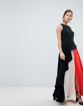 photo Piper Colourblock Maxi Dress by Coast, color Mono - Image 1
