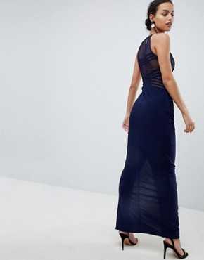 photo Adeline Maxi Dress with Mesh Bust by Coast, color Navy - Image 2