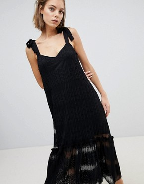 photo Lace Tiered Midi Dress by Sabina Musayev, color Black - Image 1